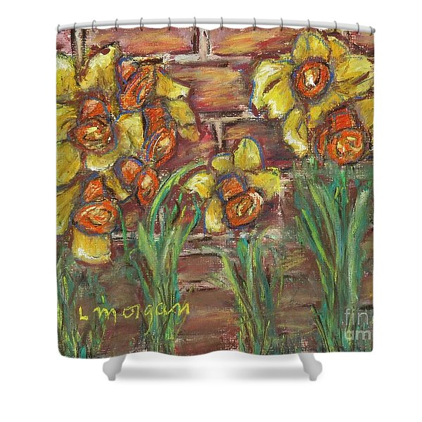 Two Toned Daffodils Shower Curtain