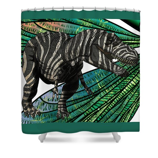 Tyrannosaurus Takes Wings Shower Curtain