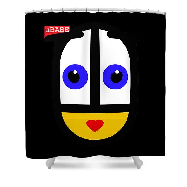 uBABE Black Shower Curtain