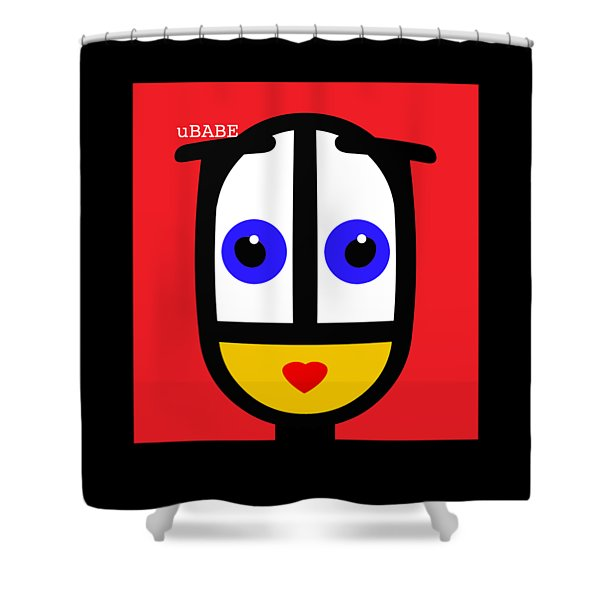 Ubabe Red Shower Curtain