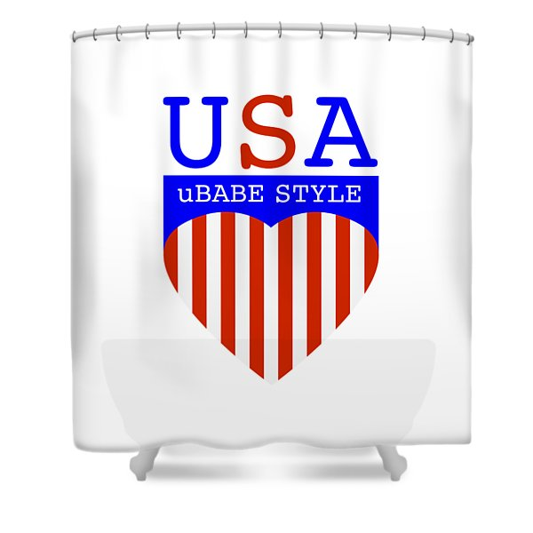 Ubabe Style America Shower Curtain