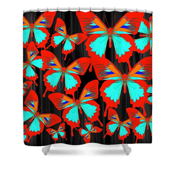 Ulysses Multi Red Shower Curtain