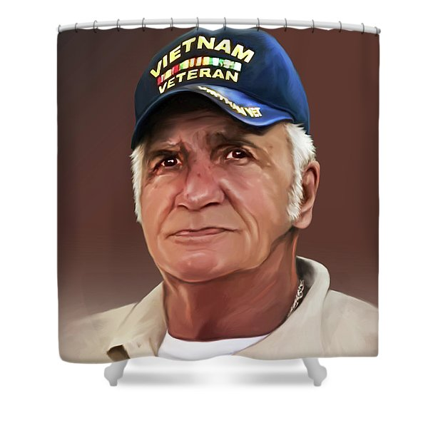 Uncle Poppy By Spano Shower Curtain