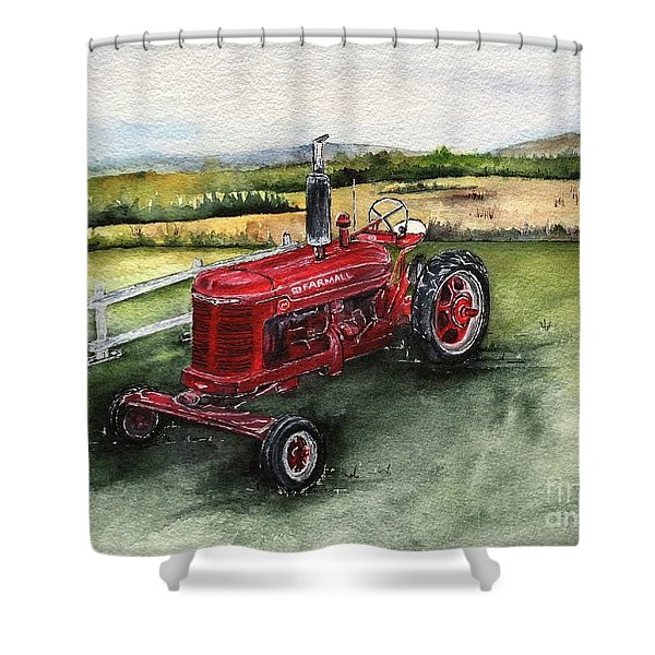 Uncle Vinal's Tractor Shower Curtain