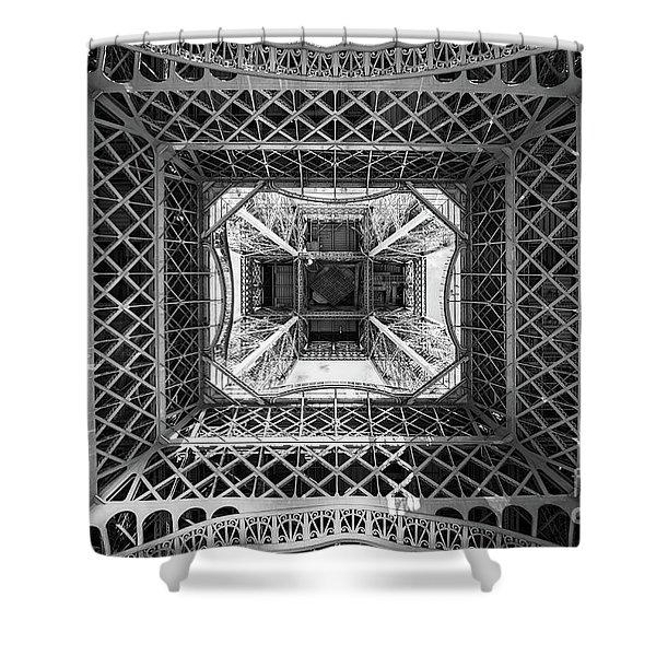 Under The Eiffel Tower Shower Curtain