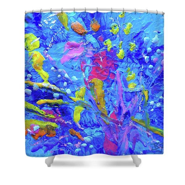 Under The Reef - Detail Shower Curtain