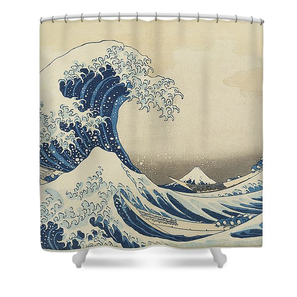 Under The Wave Off Kanagawa, 1833 Shower Curtain