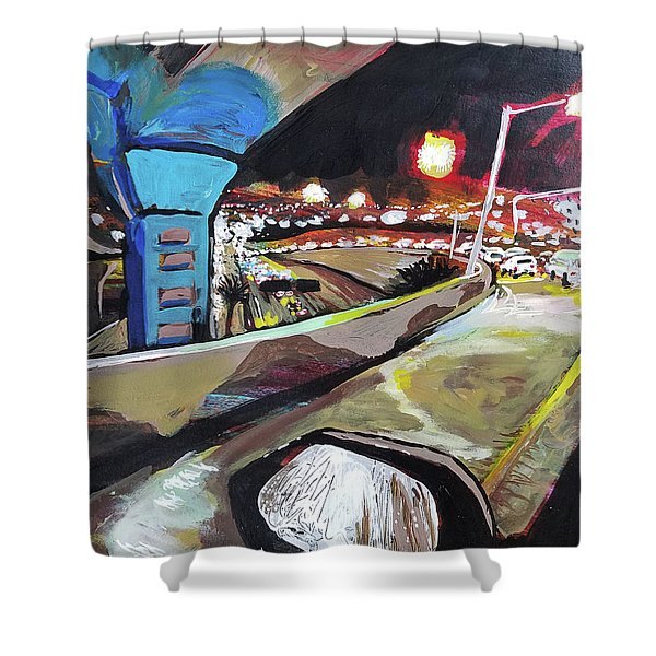 Underpass At Nighht Shower Curtain