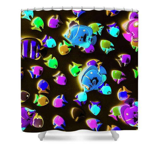 Underwater Glow Shower Curtain
