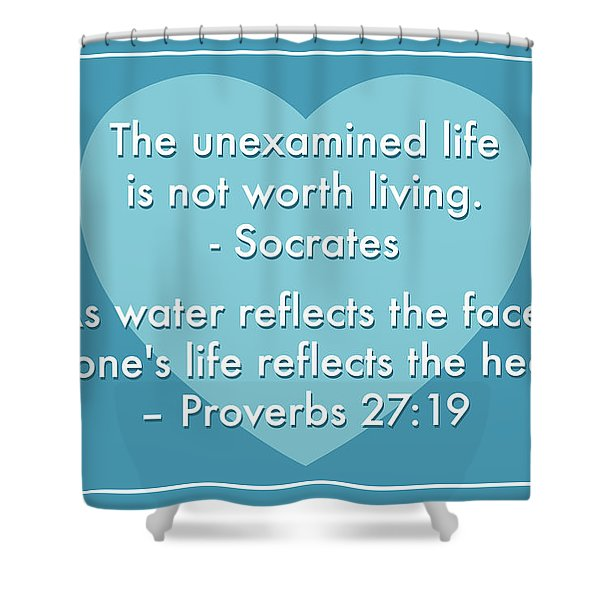 Unexamined Life Shower Curtain