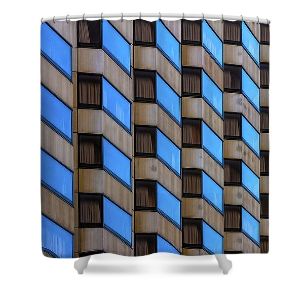 Union Square Architectual Abstract Shower Curtain