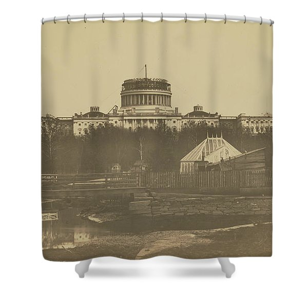 United States Capitol Under Construction Shower Curtain