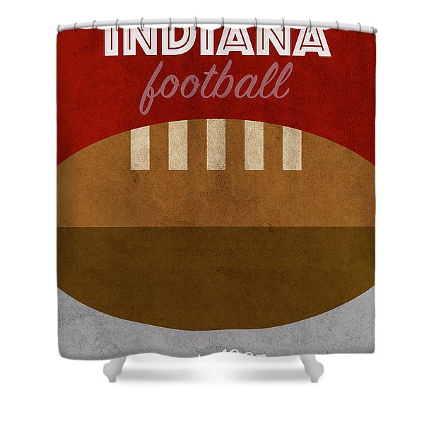 University Of Indiana College Football Team Vintage Retro Poster Shower Curtain