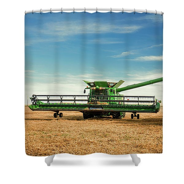 Unloading Chickpeas Shower Curtain