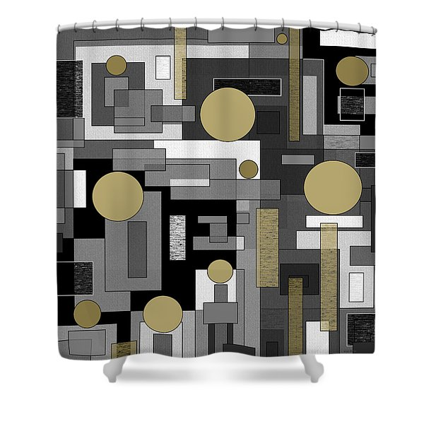 Not Just Black And White Shower Curtain