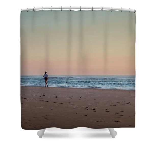 Up And Running Shower Curtain