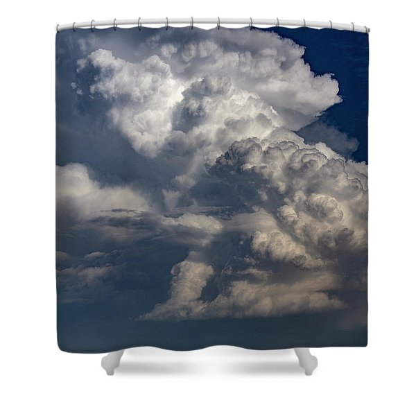 Shower Curtain featuring the photograph Updrafts And Anvil 008 by NebraskaSC