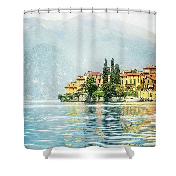 Upon The Golden Shores Shower Curtain