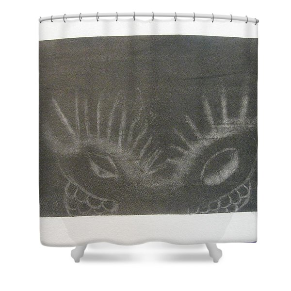Upper Dragon Face Shower Curtain
