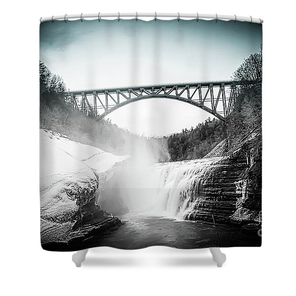 Upper Falls At Letchworth State Park Shower Curtain