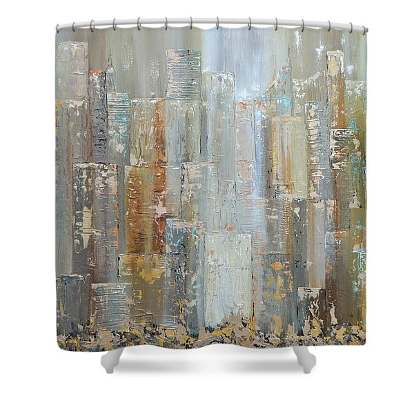 Urban Reflections I Day Version Shower Curtain