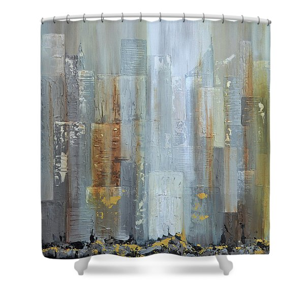 Urban Reflections I Night Version Shower Curtain
