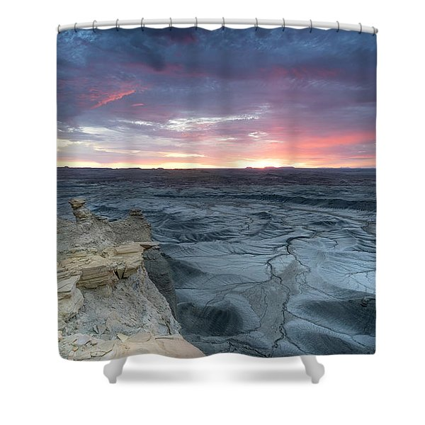 Utah Desert Sunrise Shower Curtain