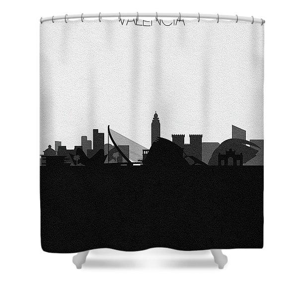 Valencia Cityscape Art Shower Curtain