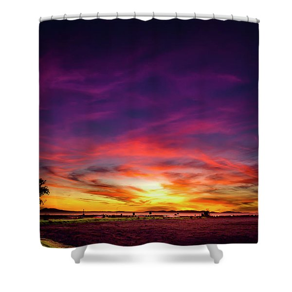 Valentine Sunset Shower Curtain