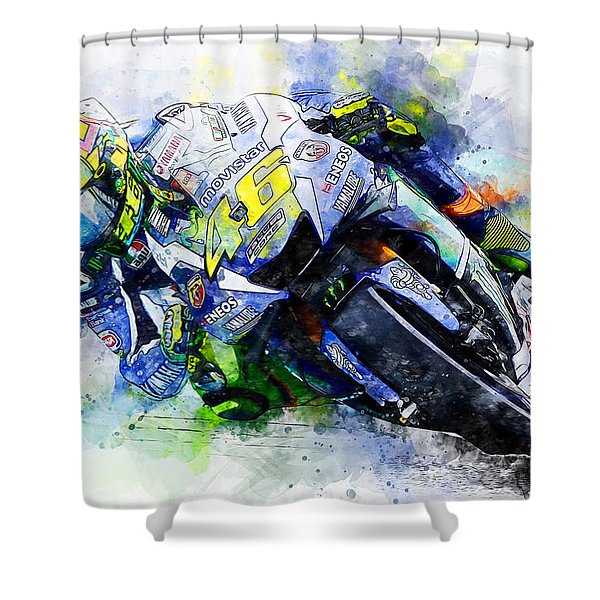 Valentino Rossi - 20 Shower Curtain
