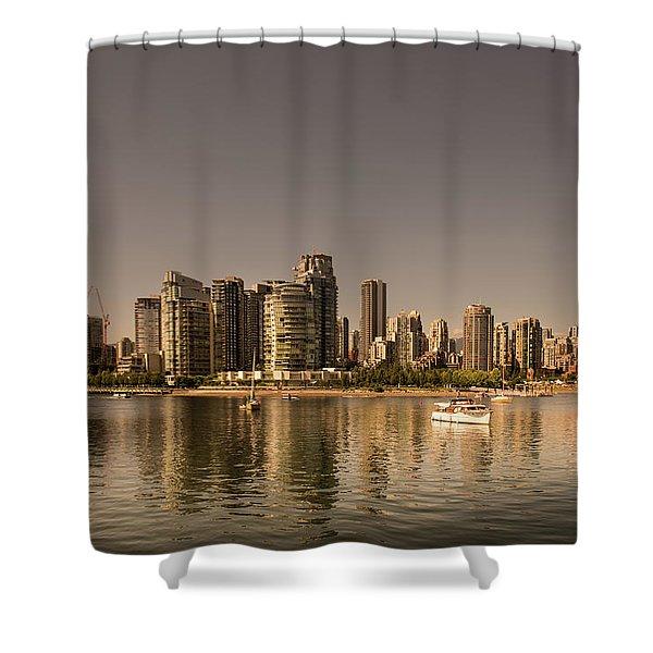 Vancouver Golden Light Hour Shower Curtain