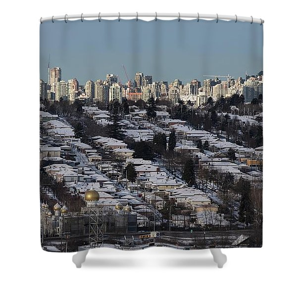 Shower Curtain featuring the photograph Vancouver In Winter No. 1 by Juan Contreras
