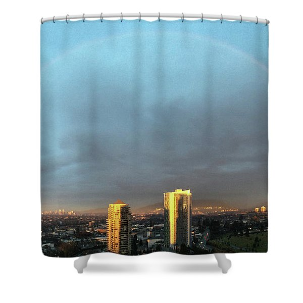 Vancouver Rainbow Shower Curtain