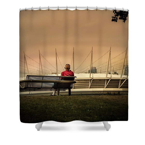 Vancouver Stadium In A Golden Hour Shower Curtain