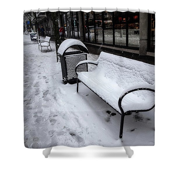 Shower Curtain featuring the photograph Vancouver Winter by Juan Contreras