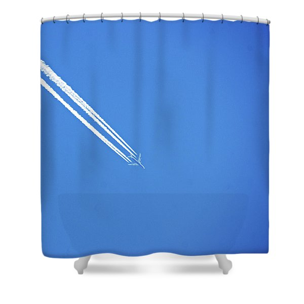 Vapour Trails On High Shower Curtain