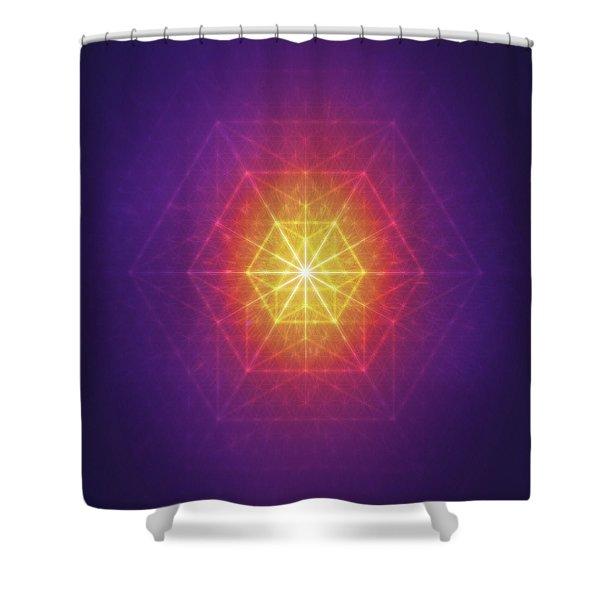 Vector Equilibrium Shower Curtain