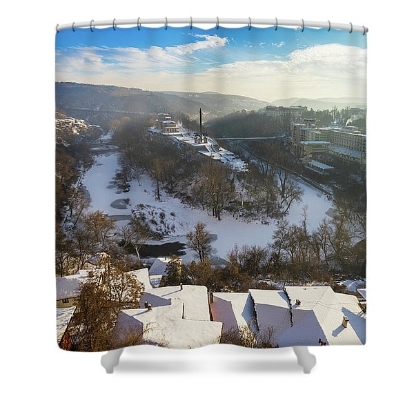 Shower Curtain featuring the photograph Veliko Turnovo City by Milan Ljubisavljevic