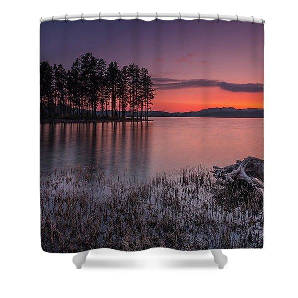Velvet Lake  Shower Curtain