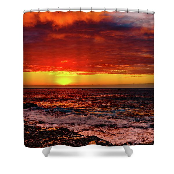 Vertical Warmth Shower Curtain