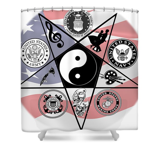 Veteran Arts Shower Curtain
