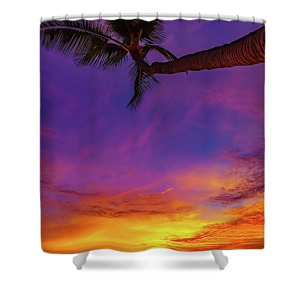 Vibrant Kona Inn Sunset Shower Curtain