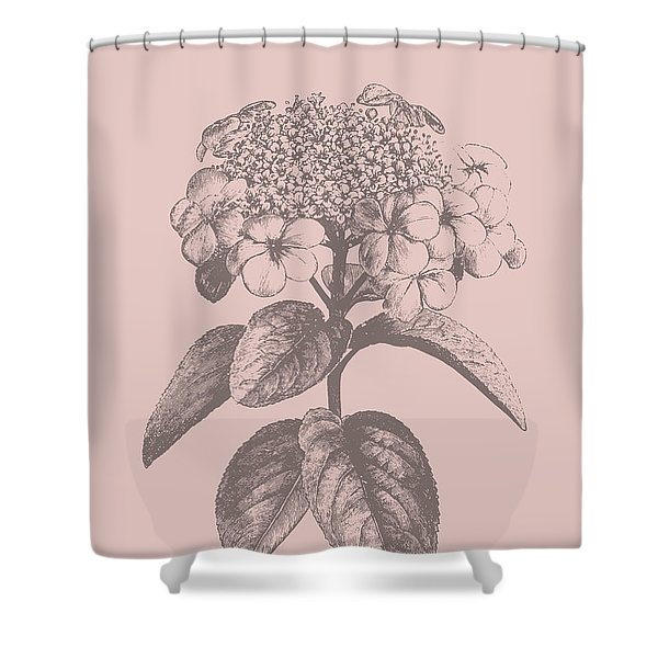 Viburnum Blush Pink Flower Shower Curtain