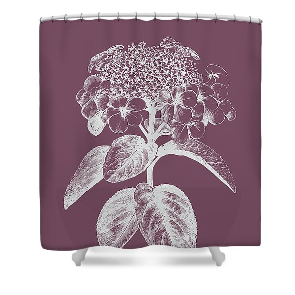 Viburnum Blush Purple Flower Shower Curtain