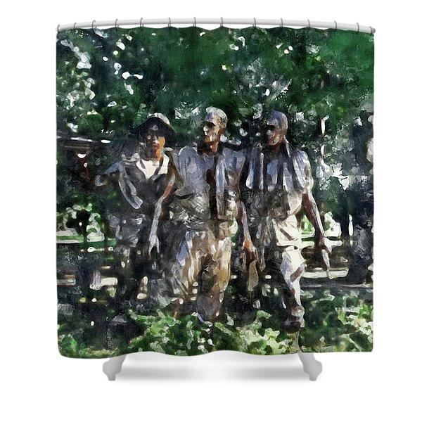 Vietnam Veteran Memorial Shower Curtain