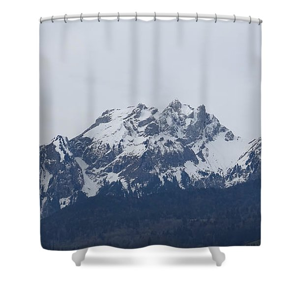 View From My Art Studio - Pilatus - March 2018 Shower Curtain