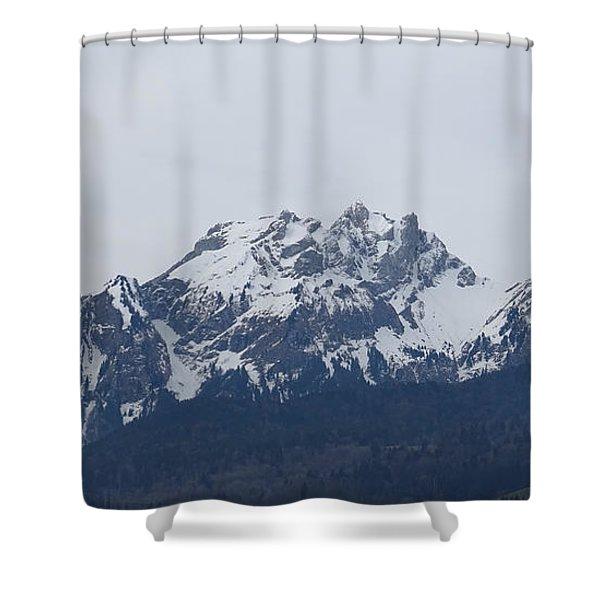View From My Art Studio - Pilatus - March 2018 Shower Curtain