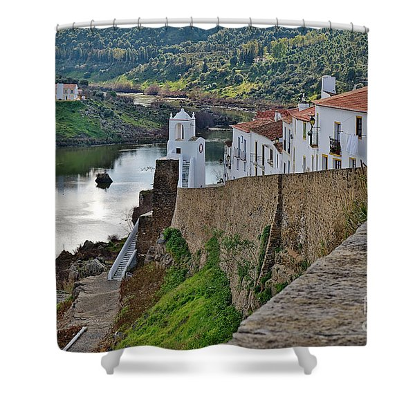 View From The Medieval Castle Shower Curtain