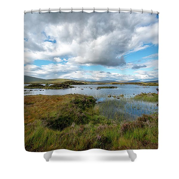 View In Glencoe, Scotland Shower Curtain