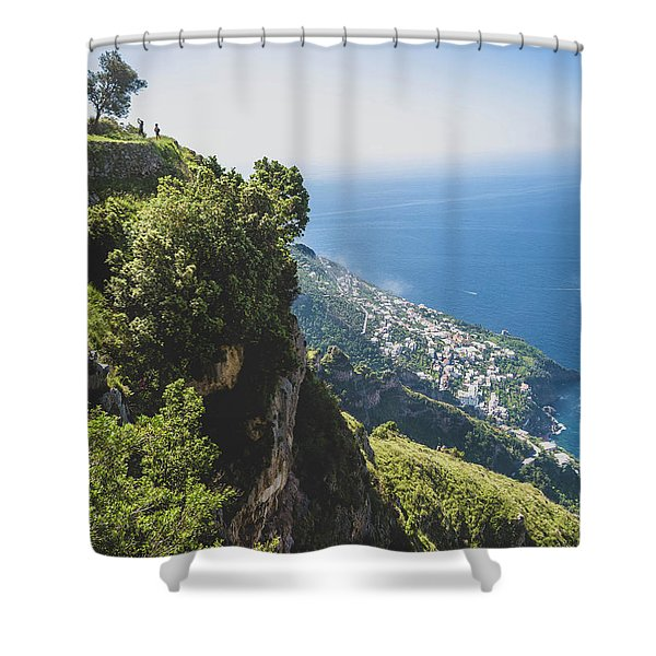 View Of Amalfi Italy From Path Of The Gods Shower Curtain